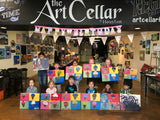 "Sat, Jan 4, 9-11a ""Outer Space"" Public Houston Kids Painting Class"