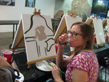 "Thurs, Feb 11, 7-10pm ""Box of Hearts"" Public Houston Wine and Painting Class"