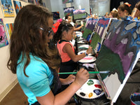 "Wed, Dec 18, 4-6pm ""A  Stroll in Winter"" Public Houston Kids Painting Class"