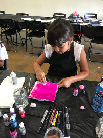 "Sat, Nov 24, 10a-12p ""Alcohol Inks 101"" Public Houston Kids Paint Class"