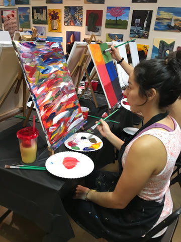 Wed, Sep 12, 9-12am Slow Flow Mojo Public Houston Yoga and Paint Class