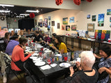 "Sat, Jan 18, 7-10pm ""Paint on Glass"" Public Houston Wine & Paint Class"