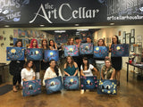 "Sat, Jan 4, 7-10pm ""Tropical Sunset"" Houston Public Wine and Painting Class"