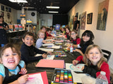 "Wed, Oct 2, 4-6pm ""A Sunset in October"" Public Houston Kids Paint Class"