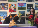 "Sat, Oct 5, 9a-11am ""An October Sunset"" Public Houston Kids Painting Class"