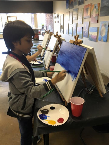 "Wed, Sep 5, 4-6p ""Stained Glass Rose"" Houston Public Kids Painting Class"