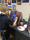 "Wed, Apr 19, 330-5pm ""British Castle"" Kids Paint Houston Public Painting Class"