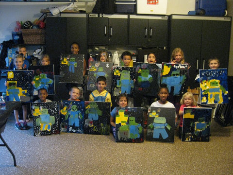 "Sat, Oct 7, 10-1130am ""Pumpkin Love"" Kids Paint Houston Public Painting Class"