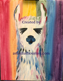 "Wed, Jul 3, 2-4pm ""Rainbow Llama"" Houston Public Team Building Painting Class"