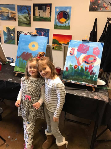 "Sat, Jun 23rd, 3-5pm ""Sunset Bay"" Public Houston Family Painting Class"