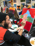 "Sat, Nov 28, 9-11a ""Lazy Fox"" Public Houston Kids Paint Class"