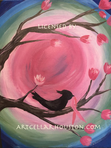 "Sat, Aug 4, 1-3pm ""My Bird Tree"" Private Houston Kids Painting Party"