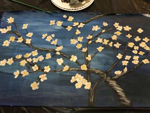 "Wed, Oct 18, 330-5pm ""Peach Tree"" Kids Paint Public Houston Painting Class"