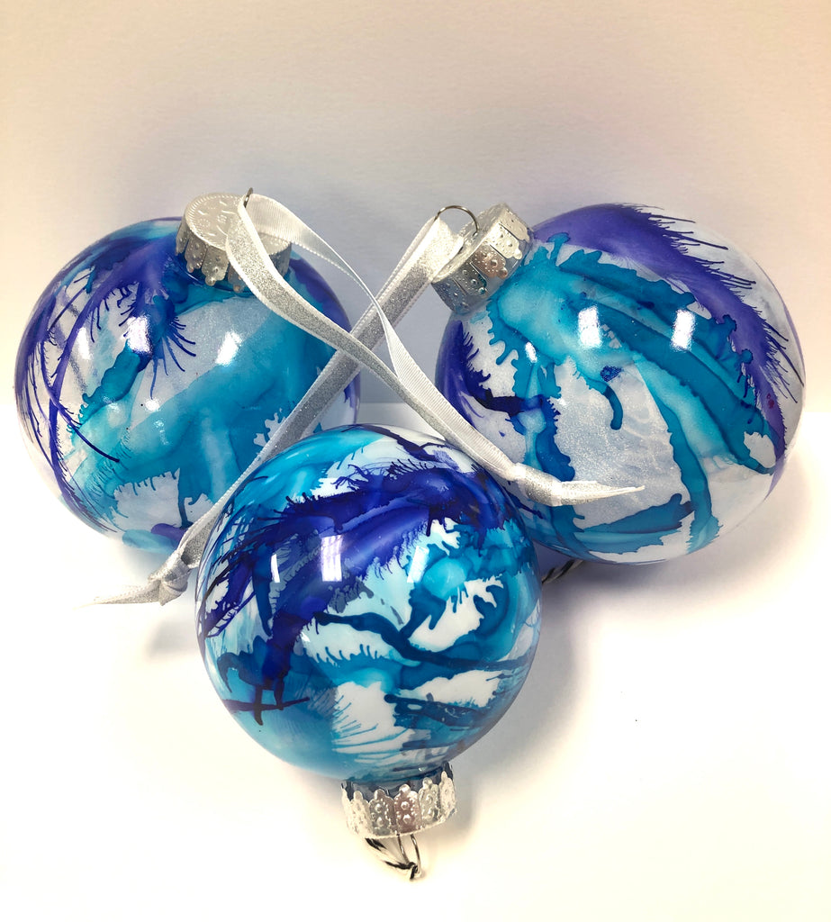 """Alcohol Ink Ornaments"" Commissioned Art Work"