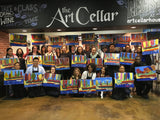 "Sat, Nov 2, 7-9pm ""Polar Borealis"" Public Houston Wine & Painting Class"