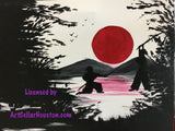 "Sun, Mar 19, 2-5pm ""Samurai Showdown"" with DJMJ Houston Public Wine and Painting Class"