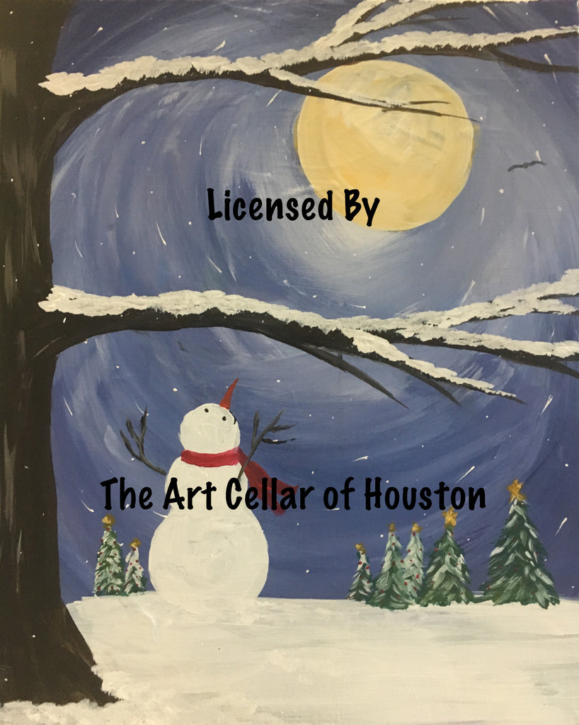 "Fri, Dec 6, 9a-12p ""Snowflake Happiness"" Private Houston Team Building Painting Party"