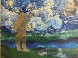"Sat, Jul 21, 7-10pm ""Starry Night Wars"" Public Houston Wine and Painting Class"