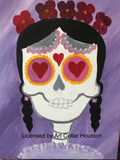 "Fri, Oct 16, 7-10p ""Sugar Skulls & Spice"" Private Houston Wine & Paint Class"