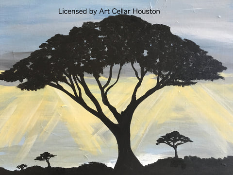 "Sat, Oct 21, 7-10pm ""Pam's Tree"" Public Houston Wine and Painting Class"