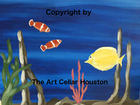 "Wed, Aug 29, 4-6pm ""The Aquarium"" Kids Paint Public Houston Painting Class"