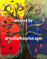 "Wed, Mar 10, 4-6P ""Tree of Life"" Houston Public Kids Painting Class"