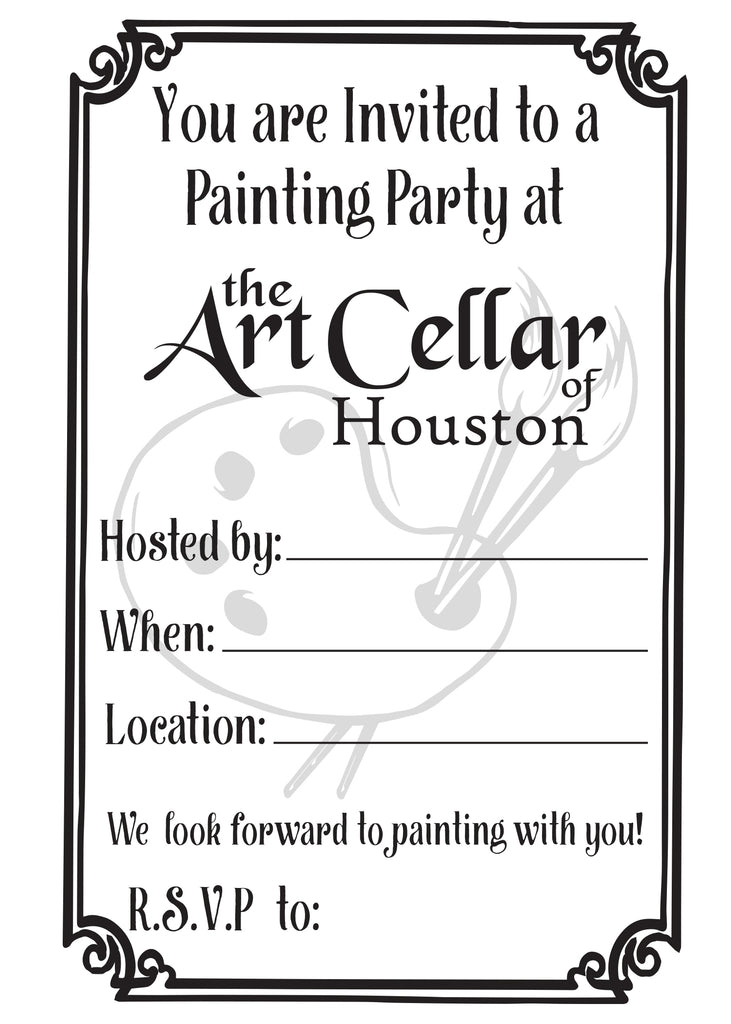 Party Invitations for The Art Cellar of Houston