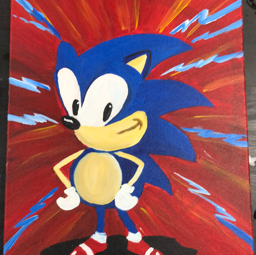 "Sat, Jan 30, 2-4p ""Sonic Hedgehog"" Private Houston Kids Painting Party"
