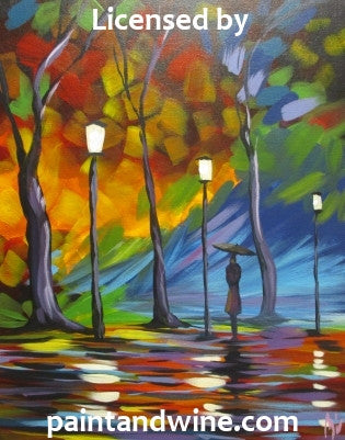 "Sat, Oct 13, 7-10pm ""Rainy Night"" Public Houston Wine and Painting Class"