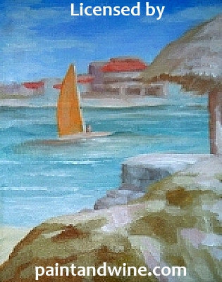"Fri, Sep 15, 7-10pm ""Adventurous Sailing"" Houston Public Wine and Painting Class"