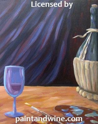 "Sat, Mar 18, 7-10pm ""Chianti Wine"" Public Houston Wine and Painting Class"