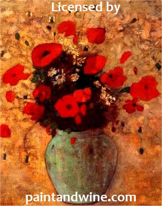 "Wed, Feb 1, 630-830pm ""Spring Poppies"" Private Houston Wine and Painting Class"