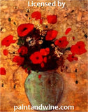 "Mon, Feb 11, 4-6pm ""Spring Poppies"" Private Houston Kids Painting Party"