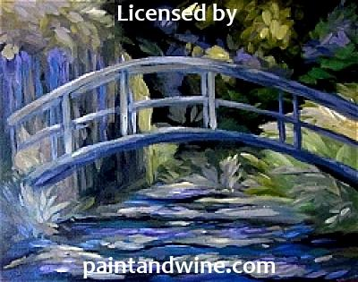 "Wed, Sep 12, 6-9pm ""Garden Bridge"" PRIVATE Houston Team Building Painting Party"