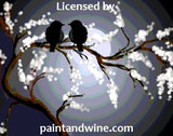 "Sat, Jan 14, 11a-1pm ""Evening Lovebirds"" PRIVATE PARTY Houston Painting Class"