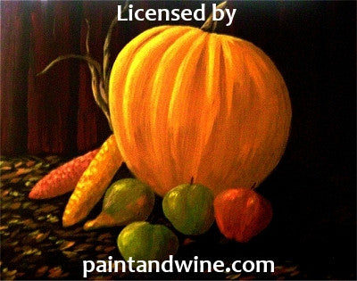 "Thu, Nov 16, 7-10pm ""The Harvest"" Public Houston Wine and Painting Class"