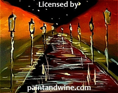 "Sat, Oct 28, 7-10pm ""Rainy Road"" Public Houston Wine and Painting Class"