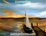 "Wed, Dec 19, 11a-2pm ""Sailboat Dock"" Private Houston Painting Class"