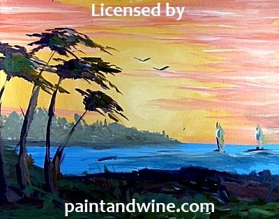 "Sat, Jan 23, 430-630p ""Sunset Cove"" Private Houston Painting Party"