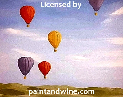 "Thu, Mar 19, 7-9p ""Up and Away"" Houston Public Wine & Painting Party"