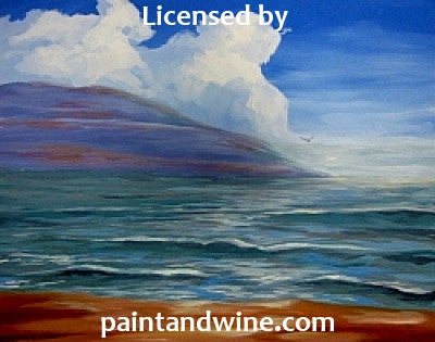 "Fri, Aug 4, 7-10pm ""Vallarta Sunrise"" Houston Public Wine and Painting Class"
