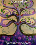 "Sat, Dec 23, 7-10pm ""Tree of Life"" Houston Public Wine and Painting Class"