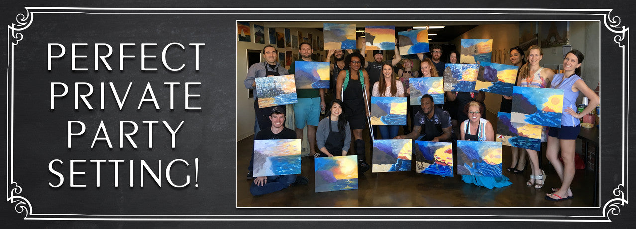Calendar for Wine & Painting Class in Houston on a Public Painting for More Info - paint nite houston
