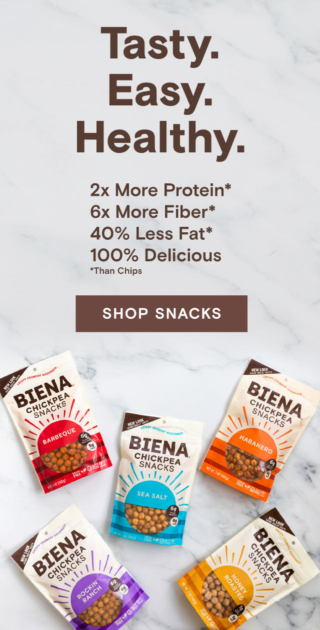 Tasty. Easy. Healthy. Shop Snacks.