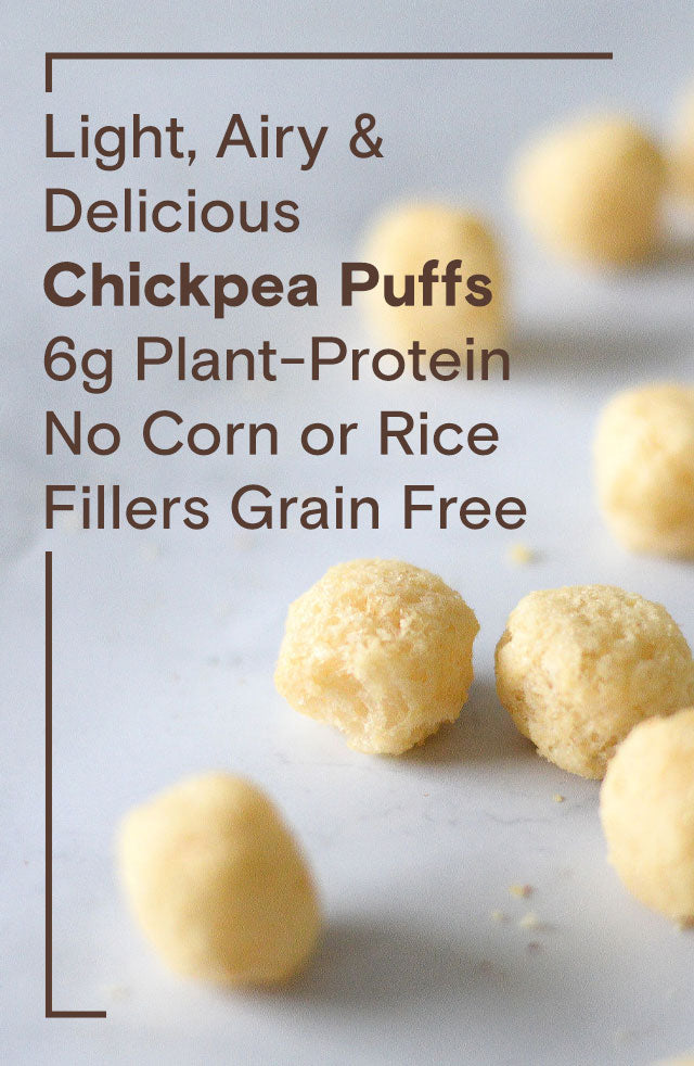 Light, Airy & Delicious Chickpea Puffs 6g Plant-Protein No Corn or Rice Fillers Grain Free