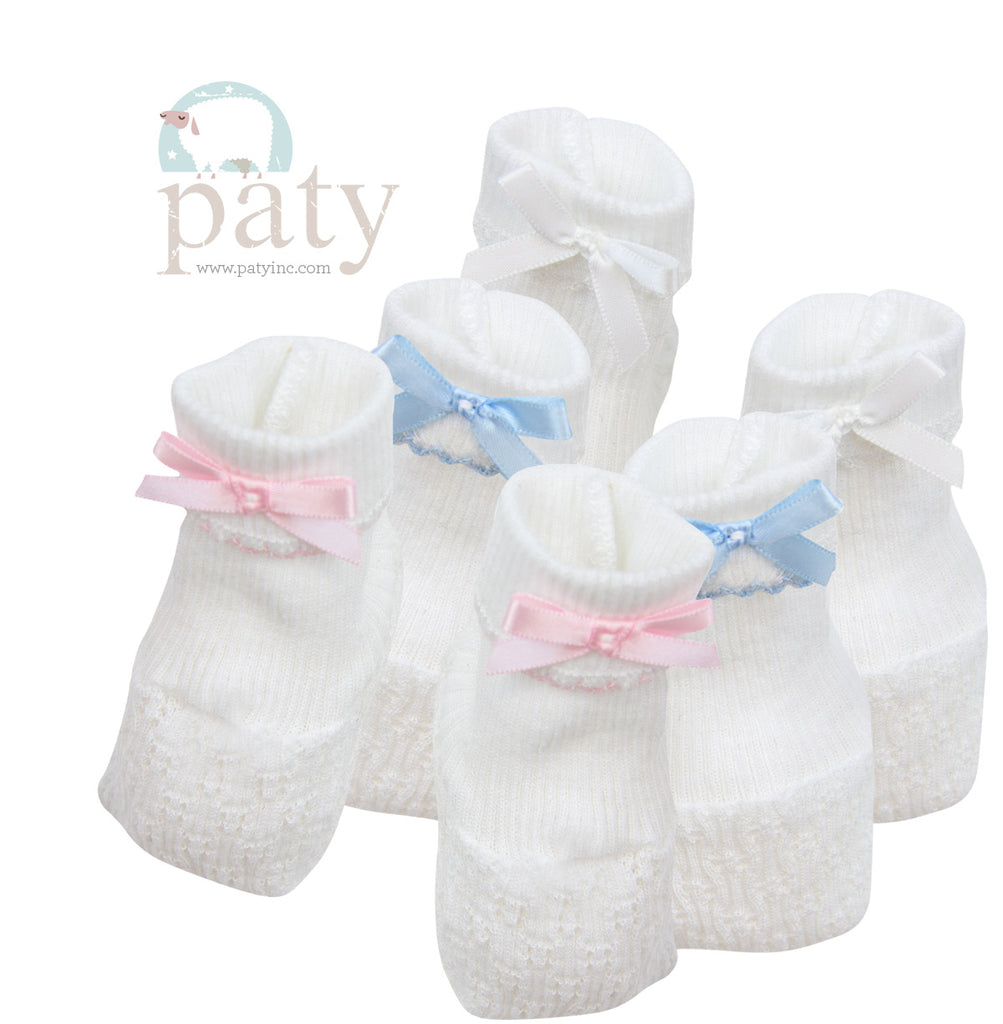 Paty, Inc. Booties with Bow