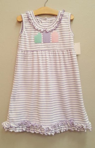 Stitchy Fish Popsicle Ruffle Dress