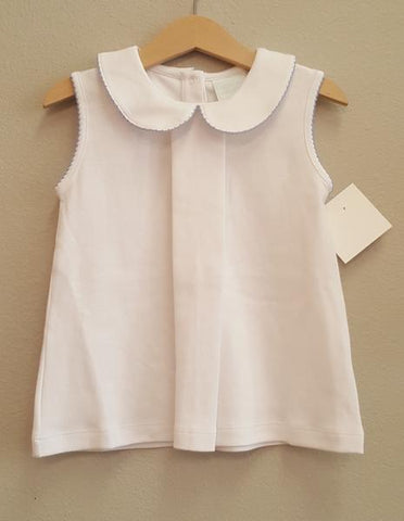 Stitchy Fish Sleeveless Pleat Front Shirt (2 options)