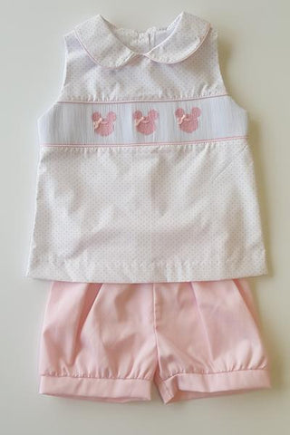 Stitchy Fish Mouse Smocked Set (Girl)