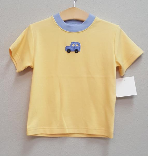 Stitchy Fish Boys T-Shirt with Crochet Car